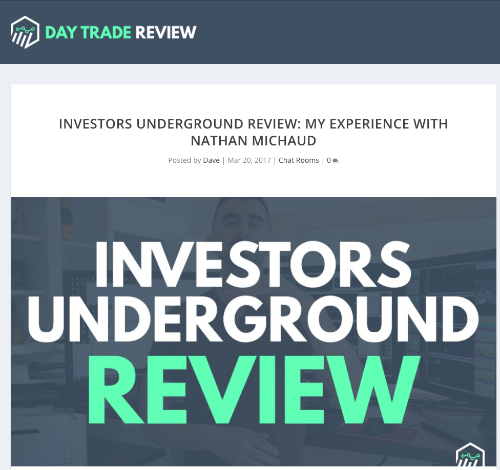 Day Trade Review of Investors Underground